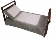 Baby Doll Bedding Set Zuma Toddler Bedding Set,Grey/White
