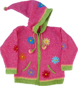 Pink Child's Sweater with Pointy Hood, Infant Size