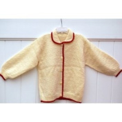 Hand Made Knit Snow White Wool Sweater for Girls