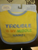Nojo Trouble Is My Middle Name! Baby Bib
