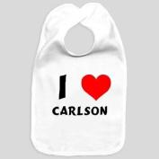 Baby bib with I Love Carlson
