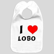 Baby bib with I Love Lobo