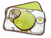 Olli & Lime George Bib and Burp Set