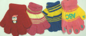 G1023 One Size Set of Four Multicolor Microfiber Lined Magic Gloves for Infants and Toddlers Ages 1-4 Years
