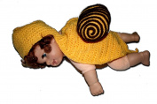 "YELLOW & BROWN SNAIL Cute Newborn Baby Beanie Child Kids Crochet Handmade Knit Hat Cap Photography Photo by ""BubuBibi"""