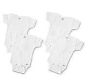 4 Pk. Gerber Short Sleeve Onesie Size 3t ~ Solid White