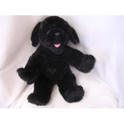"""Black Dog Plush Toy Musical Exercise 38.1cm Collectible ; """"Stella, Start Moving Again, You can Do It Alone or With a Friend"""""""