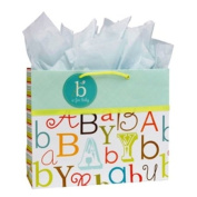 C.R. Gibson Large Embellished Gift Bag, Baby Love