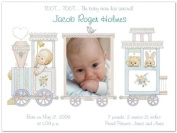 Photo Baby Train Birth Announcements - Set of 20
