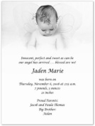Baby Angel Birth Announcements - Set of 20