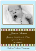 Gumballs on Blue Birth Announcements - Set of 20