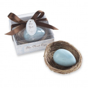 The Nest Egg Scented Egg Soap in Nest, Blue