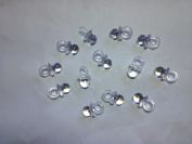 60 Pcs 1.9cm Clear Mini Pacifiers Baby Shower Party Game Decoration Favours
