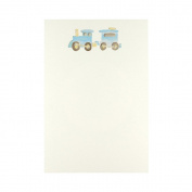 C.R. Gibson Cid Pear Imprintable Invitations and Lined Envelopes, Train, 10 Count