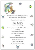 Bear Umbrella Baby Shower Invitations - Set of 20