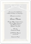 Embossed Border Baby Shower Invitations - Set of 20