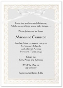 Embossed Woven Border Baby Shower Invitations - Set of 20