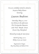 White Embossed Dotted Border Baby Shower Invitations - Set of 20