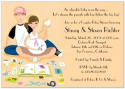 Baby Scrappin' Couple Baby Shower Invitations - Set of 20