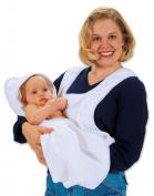 Leachco Bath 'N Wrap Plush and Absorbent Bathing Apron and Bath Mit