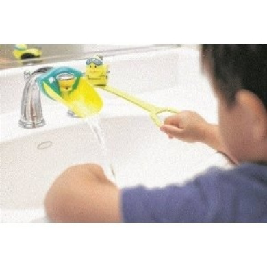 AQUEDUCK Faucet & Handle Extender Combo Help Kids & Toddlers Reach Faucet Water & Sink