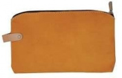 Westward 13T120 Suede Zippered Bag, 11 Lx1/2 Wx6-1.3cm H