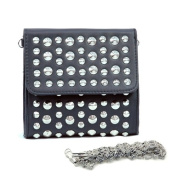 Dasein Dasein Studded Soft Clutch Crossbody Bag w/ Detachable Strap -Black