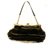 Kate Landry Brown Fur Clutch Handbag