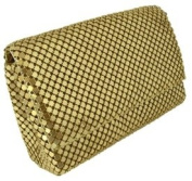 Gold Woman's Clutch Handbag - Small Purse