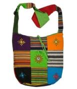 Cotton Canvas Boho Hobo Tote Hippie Indian Sling Cross Body Bag