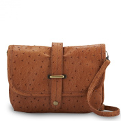 Pluck & Swagger Amy Ostrich-Embossed Crossbody Pouch