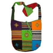 Cotton Canvas Mirror Patch Bohemian/Hippie Sling Cross Body Bag India