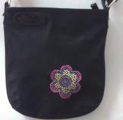 LynDorf Rhinestone & Stud Flower Crossbody Bag