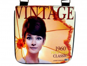 Audrey Hepburn Vintage 1960s Movie Messenger Cross Body Bag Purse
