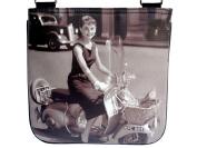 Audrey Hepburn Retro Classic Vespa Messenger Sling Cross Body Bag Purse
