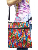 US HANDMADE FASHION Virgin Mary Guadelupe Pattern Cross Over Body Shoulder Bag Style Handbag Purse Robert Kaufman Cotton Fabric, CSOP1498