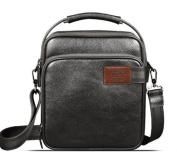 """Feger """"College Avenue"""" Men's Fine Leather Shoulder Bag & Tablet Case - Black"""