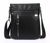 """Feger """"Market Street"""" Men's Soft Leather Vertical Leisure Bag - Black"""
