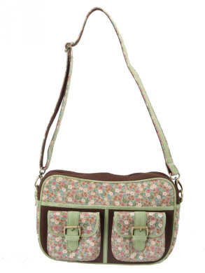 Ivory Tag Minted Floret Crossbody Bag