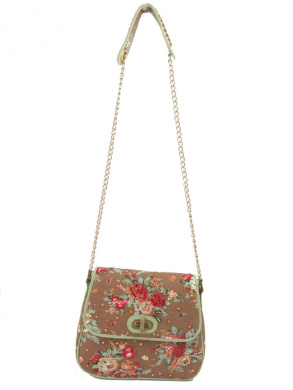 Ivory Tag Dazzling Rossete Hand Embroidery Crossbody Bag