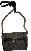 Women's Calvin Klein Purse Handbag Keylock Crossbody Khaki/Brown
