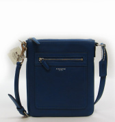 Coach Legacy Leather Swingpack Crossbody Handbag Purse Cobalt