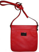 Women's Ralph Lauren Purse Handbag Governors Lodge Leather Flat Crossbody Coral