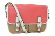 Coach Park Leather Flap Crossbody Bag Taupe Rose Multi 23383