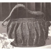 Vintage Crochet PATTERN to make - Beaded Evening Bag Purse Handbag Retro. NOT a finished item. This is a pattern and/or instructions to make the item only.