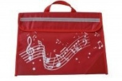 Wavy Stave Music Bag - Red