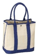 Blue/natural Cotton Canvas Tote