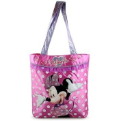 Disney Junior Minnie Mouse Large Pink w/sparkles and polka dots Tote/Bag