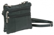 Shoulder Bag--Black Leather--3205