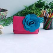 [Elegant Life] Flower Leatherette Clutch Shoulder Bag Clutch Casual Purse